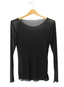 Black Mesh Long Sleeve Top Habits