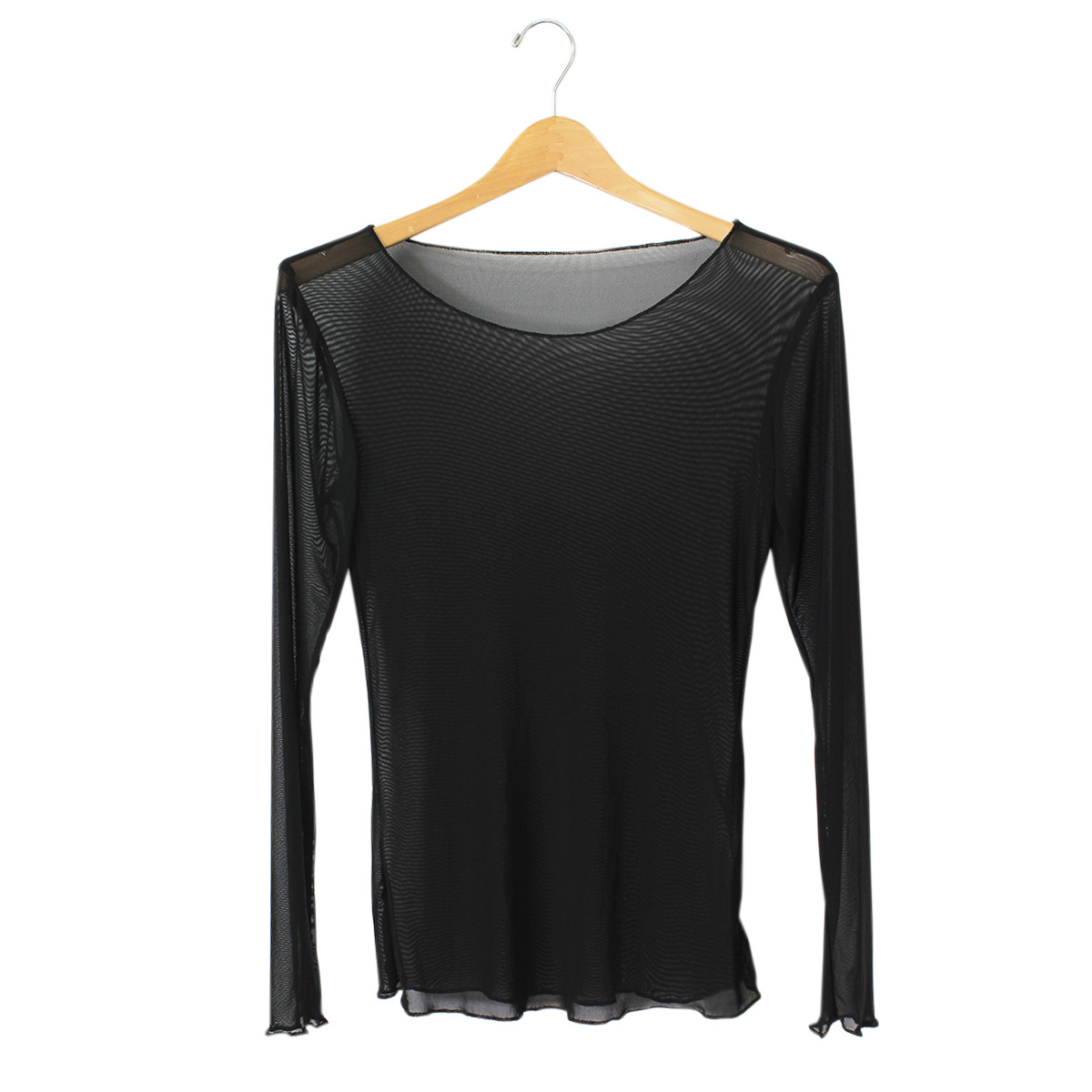 Long sleeve mesh top habits fashion boutique for Boutique tops