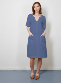 Linen Short Sleeve Dress Habits