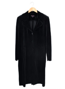 Velvet Three-quarter Coat