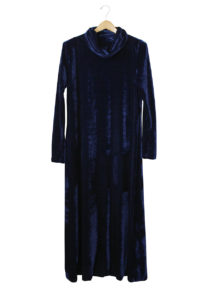Velvet Cowl Neck EA Dress