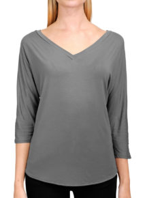 Suzy D V-neck Jersey Top