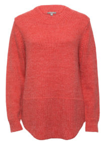 Chunky Knit Scooped Hem Jumper
