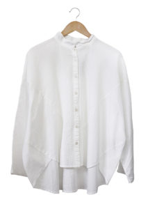 Yacco Maricard Pleat Shirt With Curved Side Inset