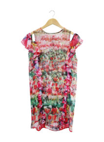 Printed Shift Dress With Petti
