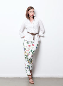 Habits Satin Floral Hepburn Pants