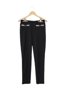 Joseph Ribkoff Tape & Buckle Trim Pants