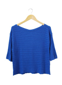 Suzy D Three-quarter Sleeve Rib Knit