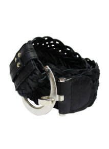 Woven Leather Adjustable Belt