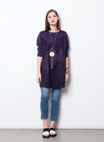 Yacco Maricard Cotton Jersey Paneled Tunic