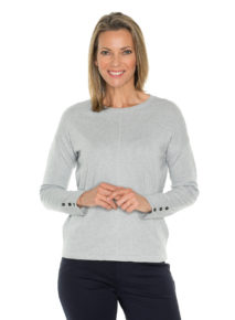 Yarra Trail Button Sleeve Jumper