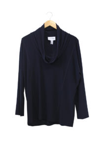 Joseph Ribkoff Cowl Neck Top With Stitch Detail