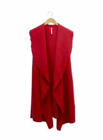 Sleeveless Drape Collar Cardi