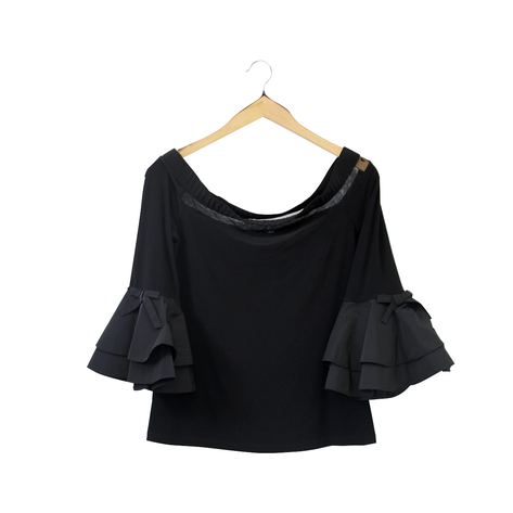 Joseph Ribkoff Off Shoulder Top With Sleeve Detail