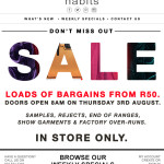 At Last - The Habits In Store SALE