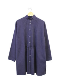 Yacco Maricard Pintuck Twisted Front Shirt