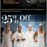 25% Off Everything White at Habits
