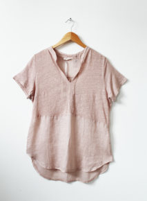 SD_Vneck Linen Top
