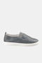 Fran Grey Leather Sneakers