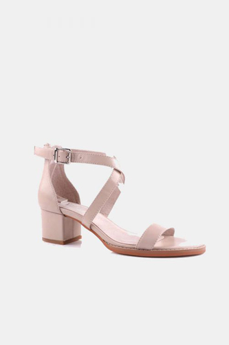 Dune Leather Heeled Sandals
